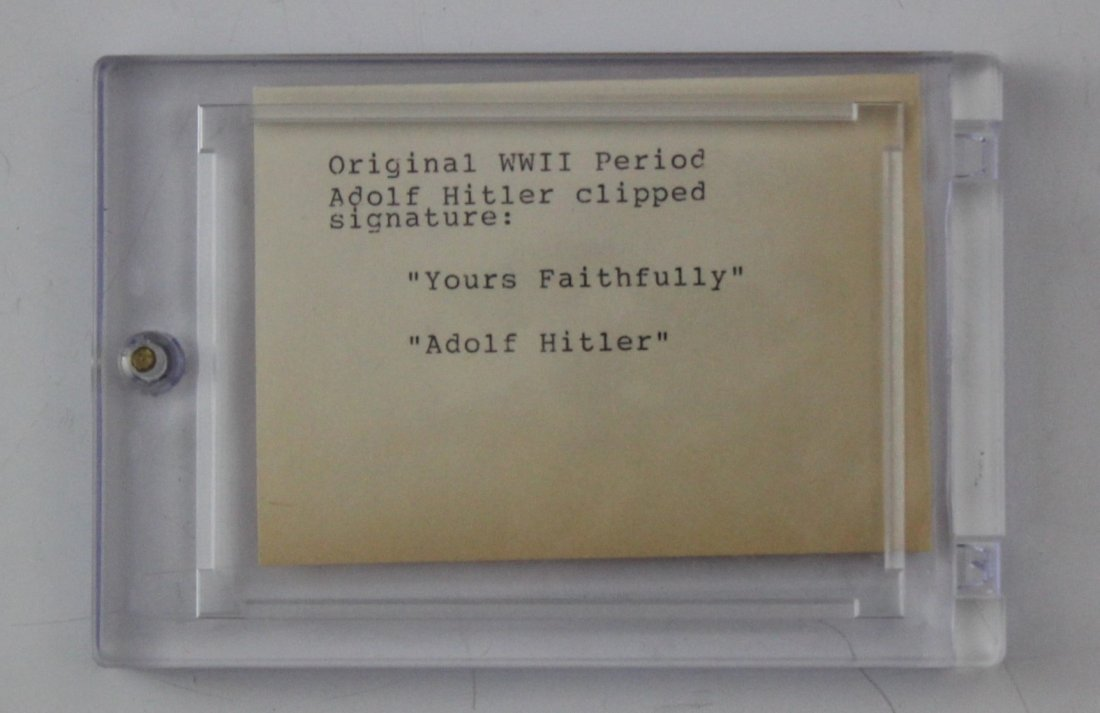 Adolf Hitler Signature - 2