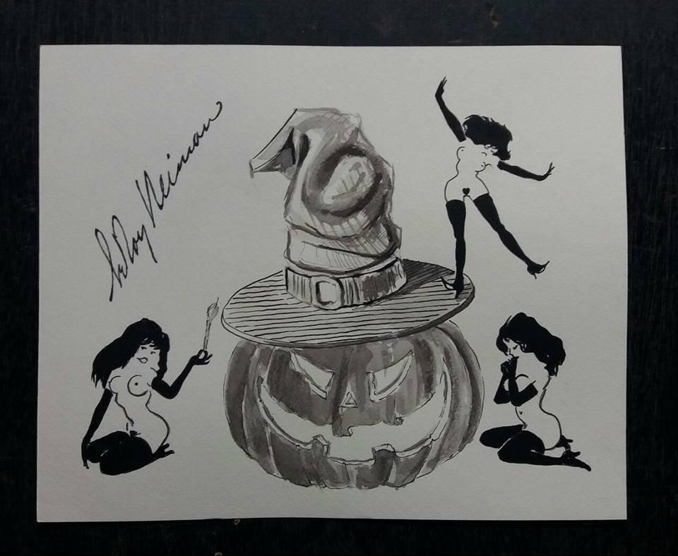Leroy Neiman Femlin Drawing
