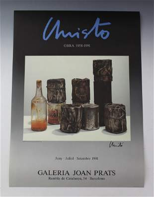 Christo Hand Signed Bottles and Can Poster