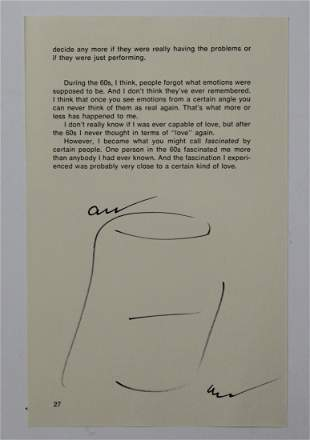 Andy Warhol Signed Soup Can Drawing
