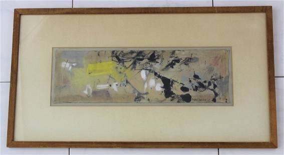 Friedel Dzubas Abstract Oil Painting