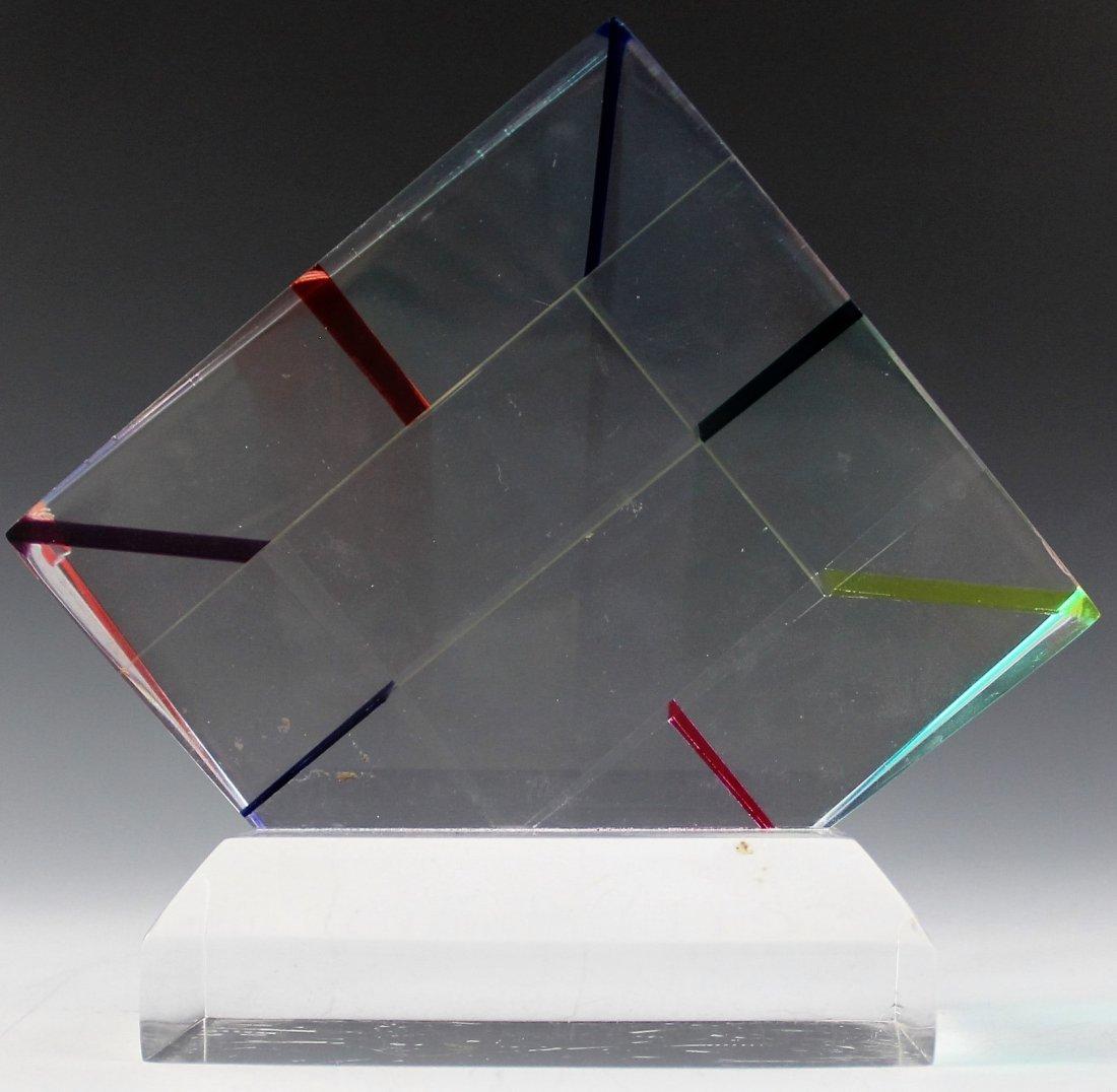 Vasa Mihich Optical Acrylic Sculpture