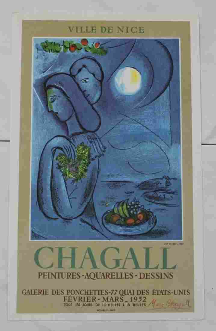Marc Chagall Signed Exhibition Print