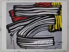 Roy Lichtenstein Signed Brushstroke Card