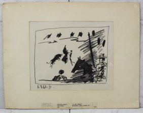 pair of picasso lithographs