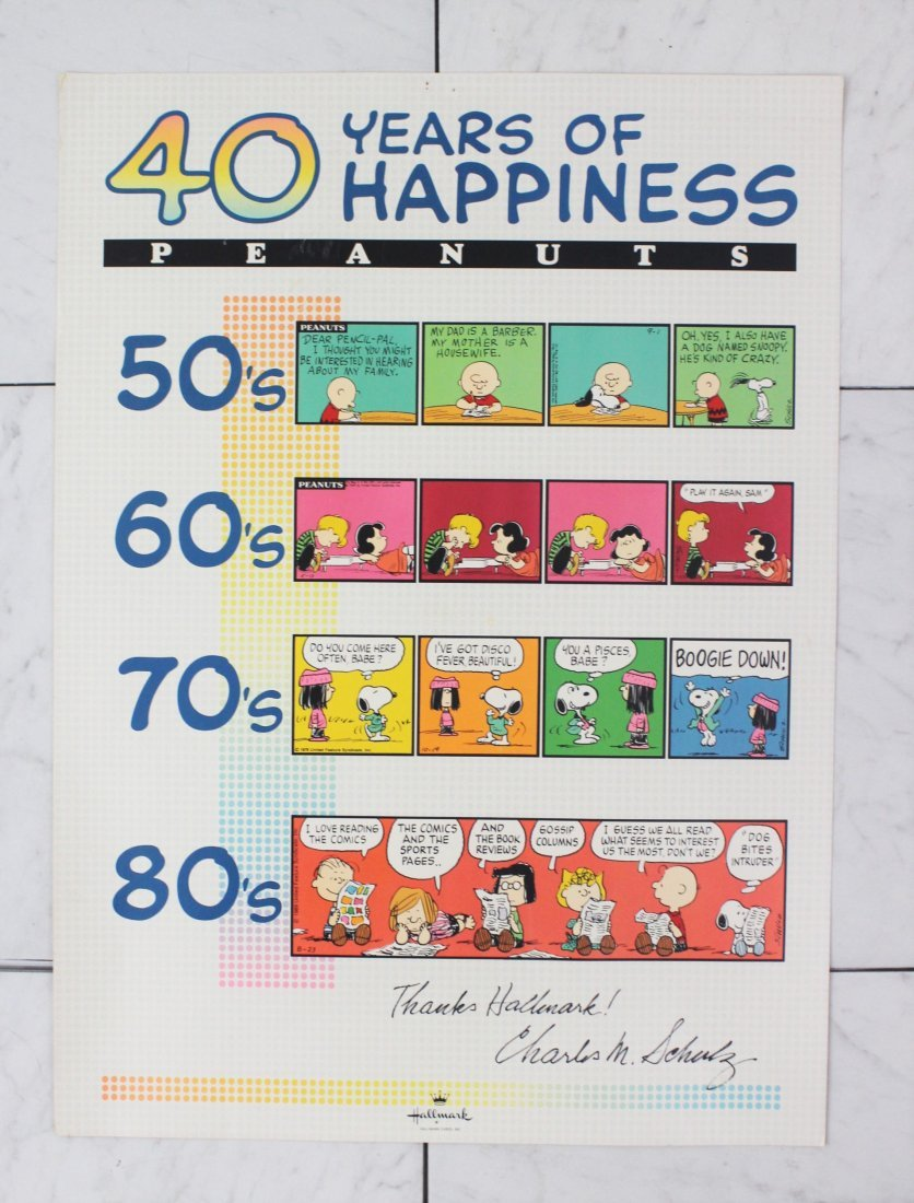 Charles Schulz Signed Poster