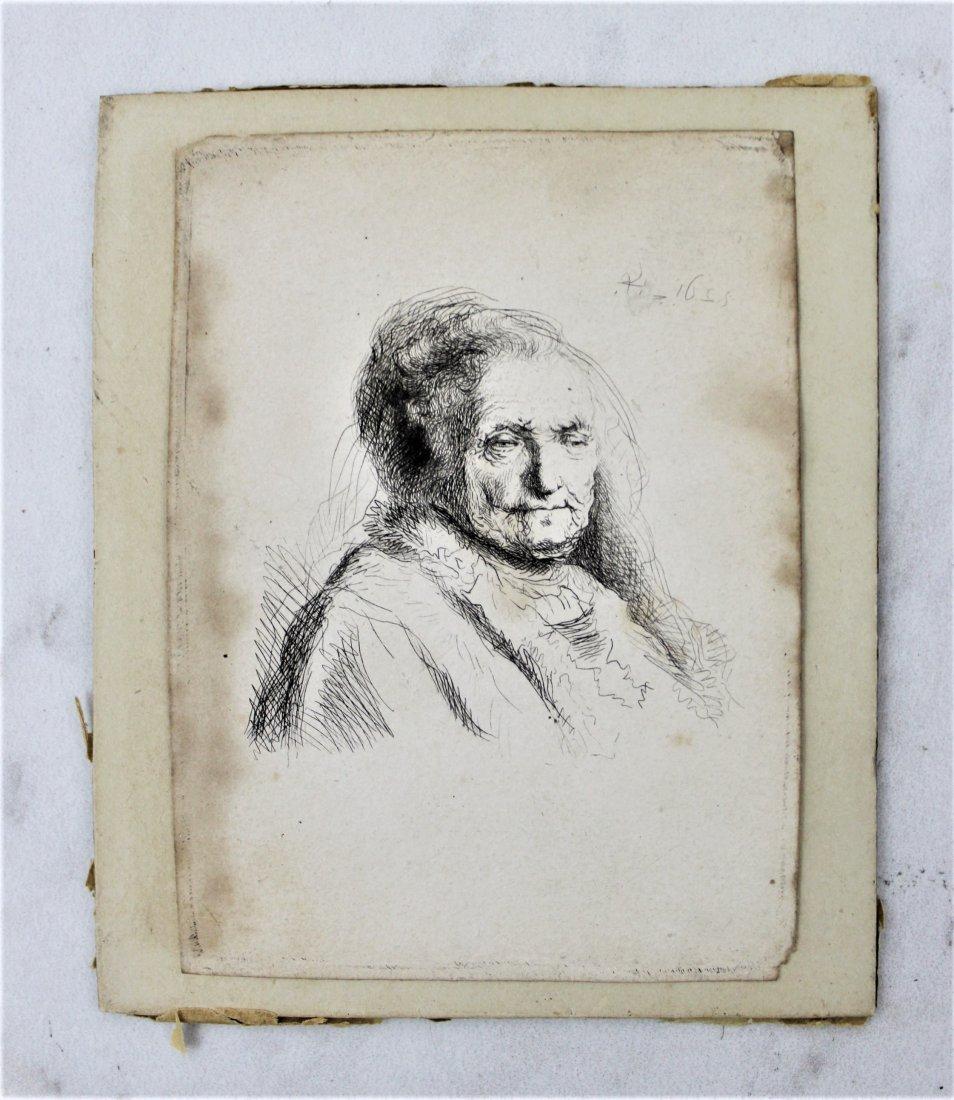 Rembrandt Van Rijn Etching