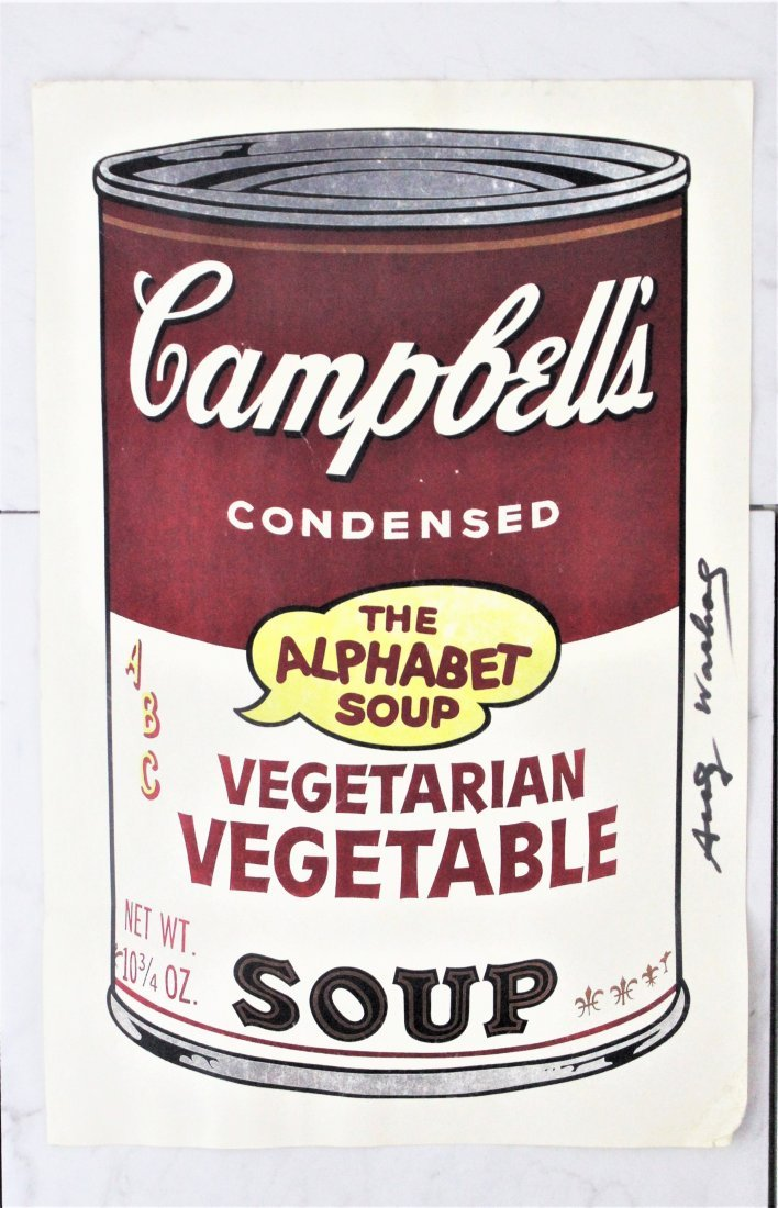 Andy Warhol Signed Soup Can Serigraph