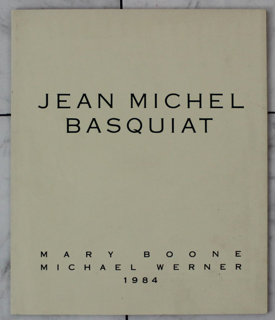 Jean-Michel Basquiat Signed Mary Boone Catalog, 1984
