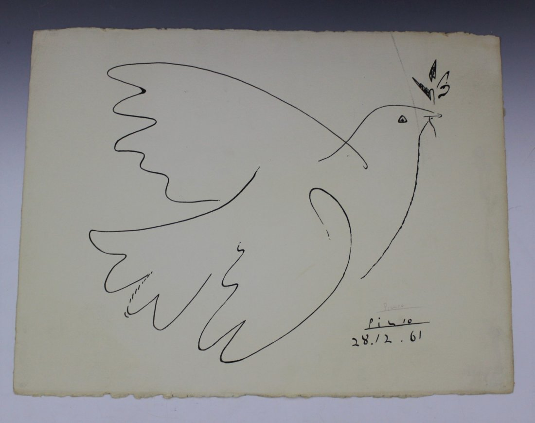 Pablo Picasso Signed Lithograph, Dove of Peace