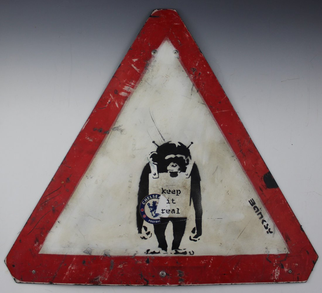 Banksy, Painted Louis Sign