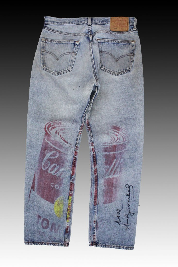 Andy Warhol, Campbell's Soup Screenprint on Denim Jeans