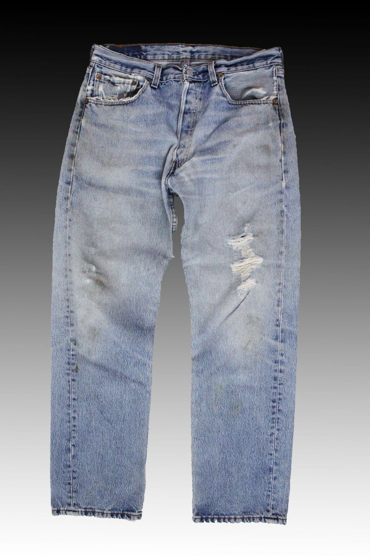 Andy Warhol, Campbell's Soup Screenprint on Denim Jeans - 2