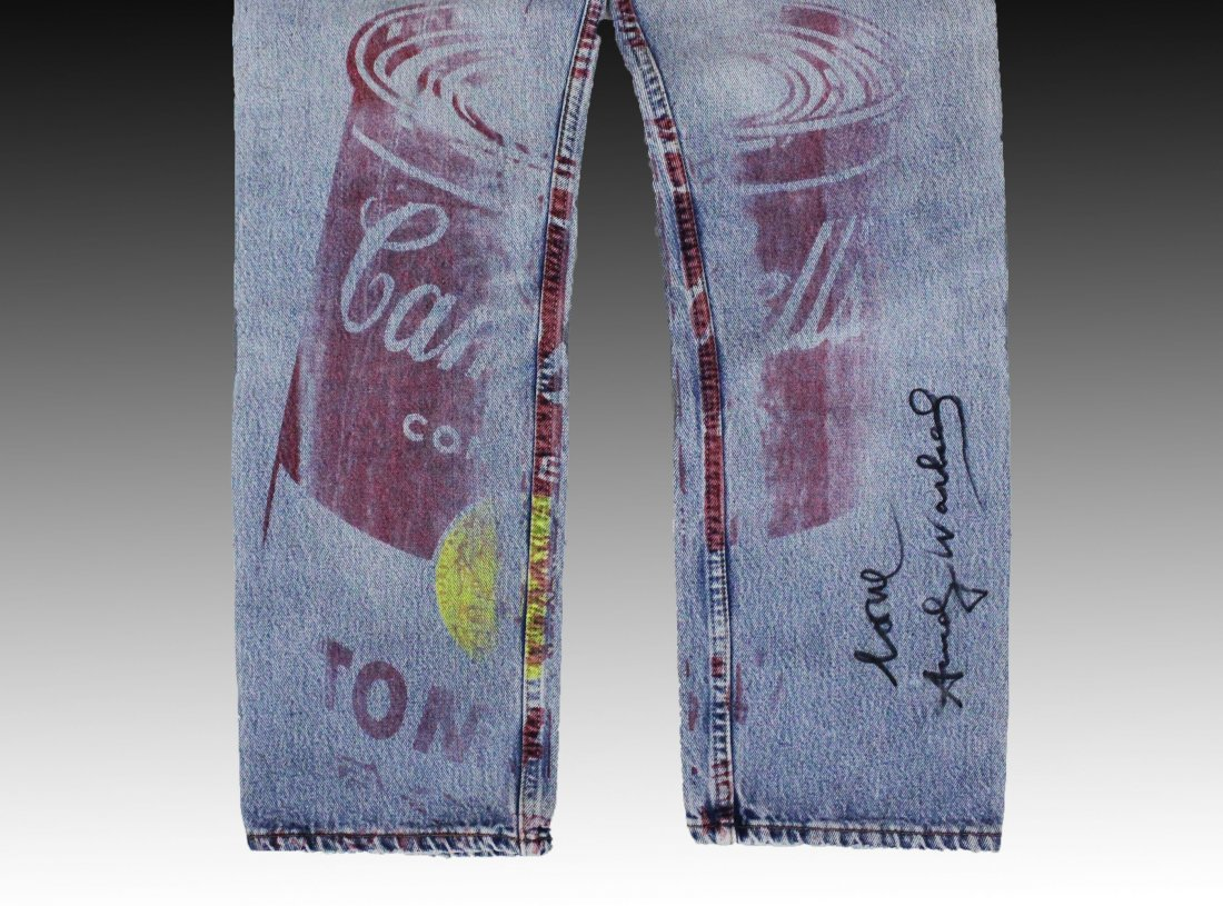 Andy Warhol, Campbell's Soup Screenprint on Denim Jeans - 3