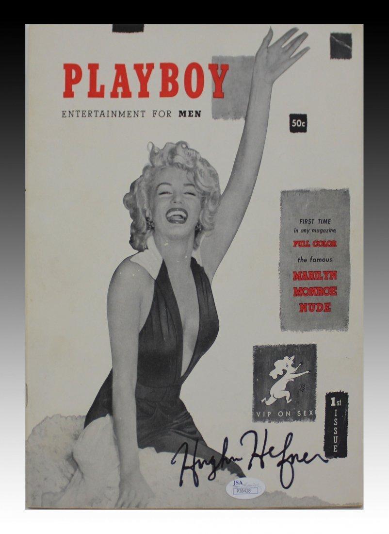 Hugh Hefner Signed First Issued Playboy Magazine