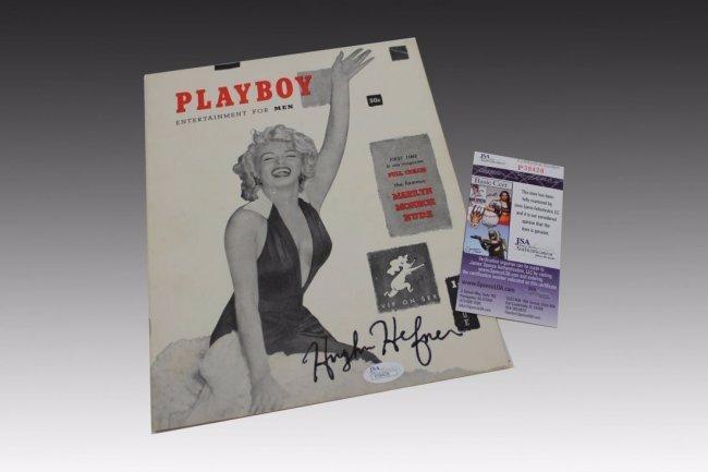 Hugh Hefner Signed First Issued Playboy Magazine - 2