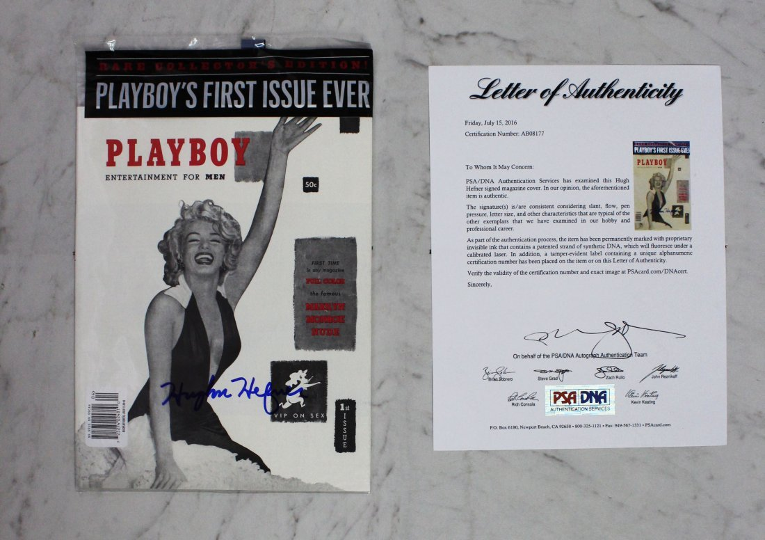 Hugh Hefner Signed Playboy Magazine - 2