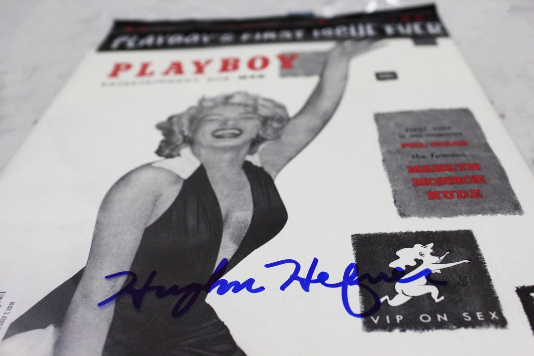 Hugh Hefner Signed Playboy Magazine - 3