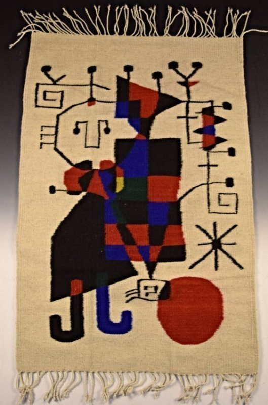 Joan Miro Wool Tapestry