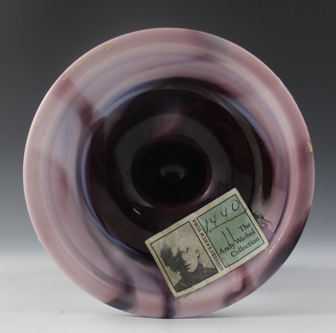 Purple Slag Vase Andy Warhol Collection - 3