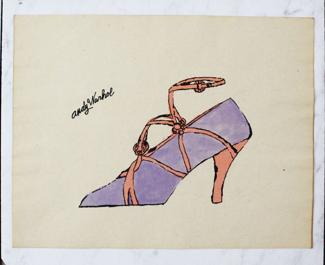 Andy Warhol Watercolor Shoe Illustration