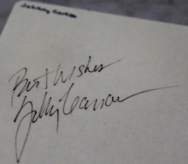 Elvis Presley, Frank Sinatra, Johnny Carson Signed - 4