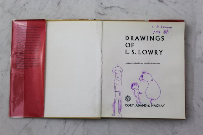 L.S. Lowery Signed Book w/ Drawing
