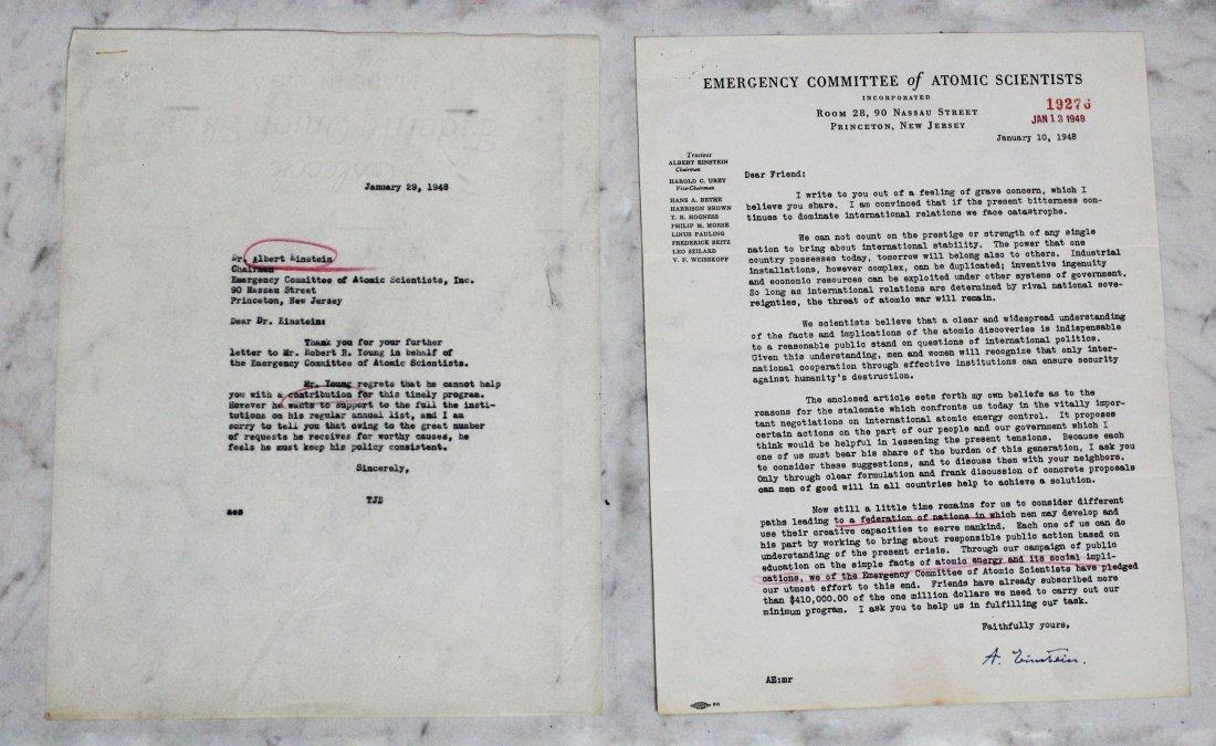 Albert Einstein Signed Letter