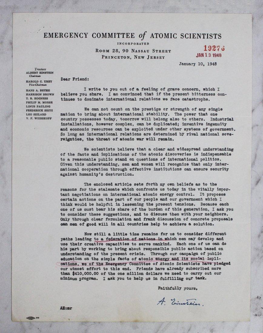 Albert Einstein Signed Letter - 2
