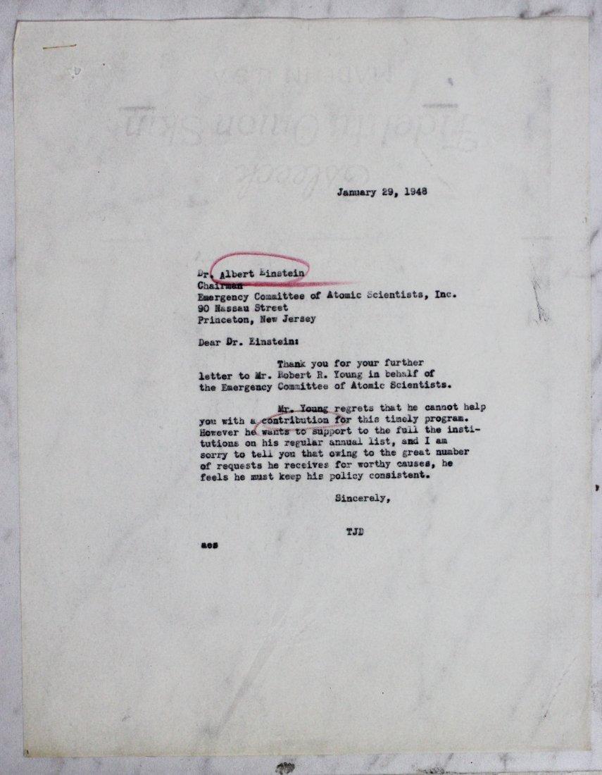 Albert Einstein Signed Letter - 3