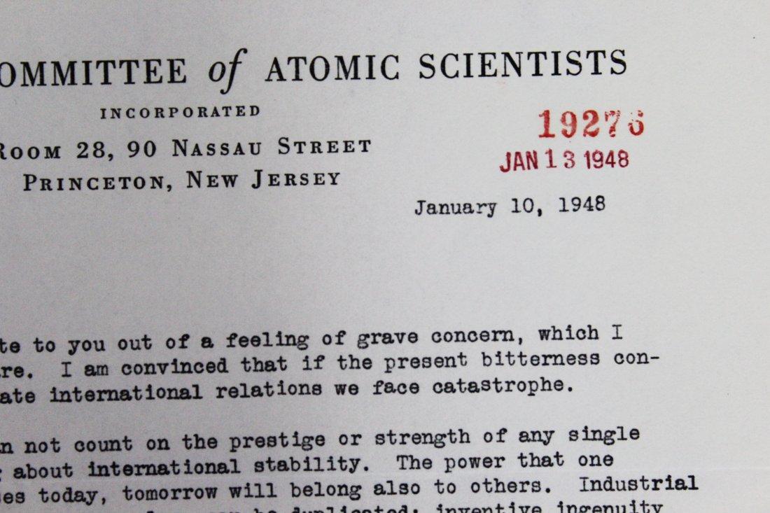 Albert Einstein Signed Letter - 4