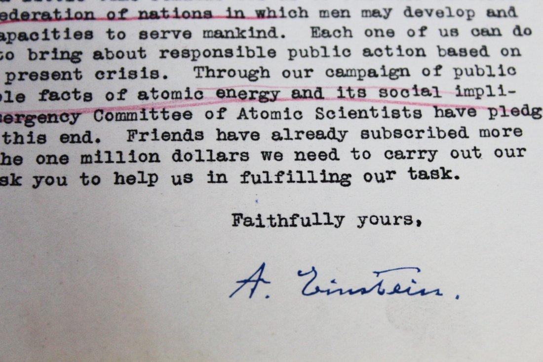 Albert Einstein Signed Letter - 5