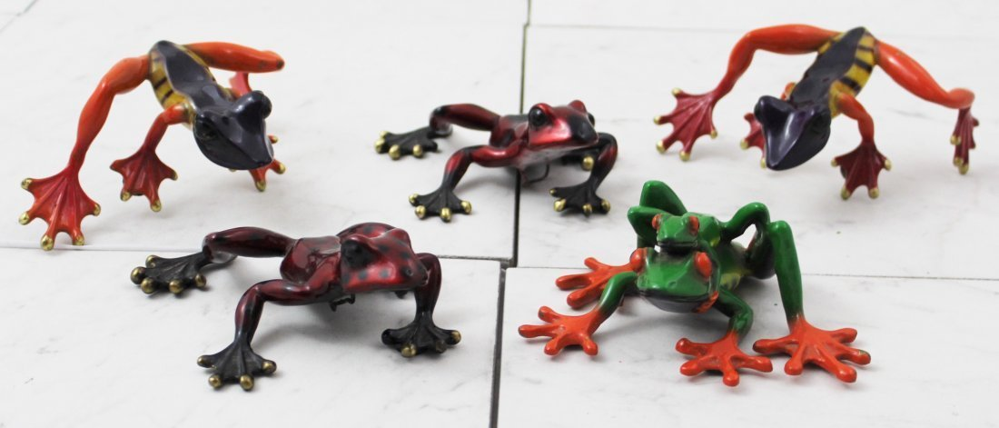 Grouping of Barry Stein Frog Sculptures