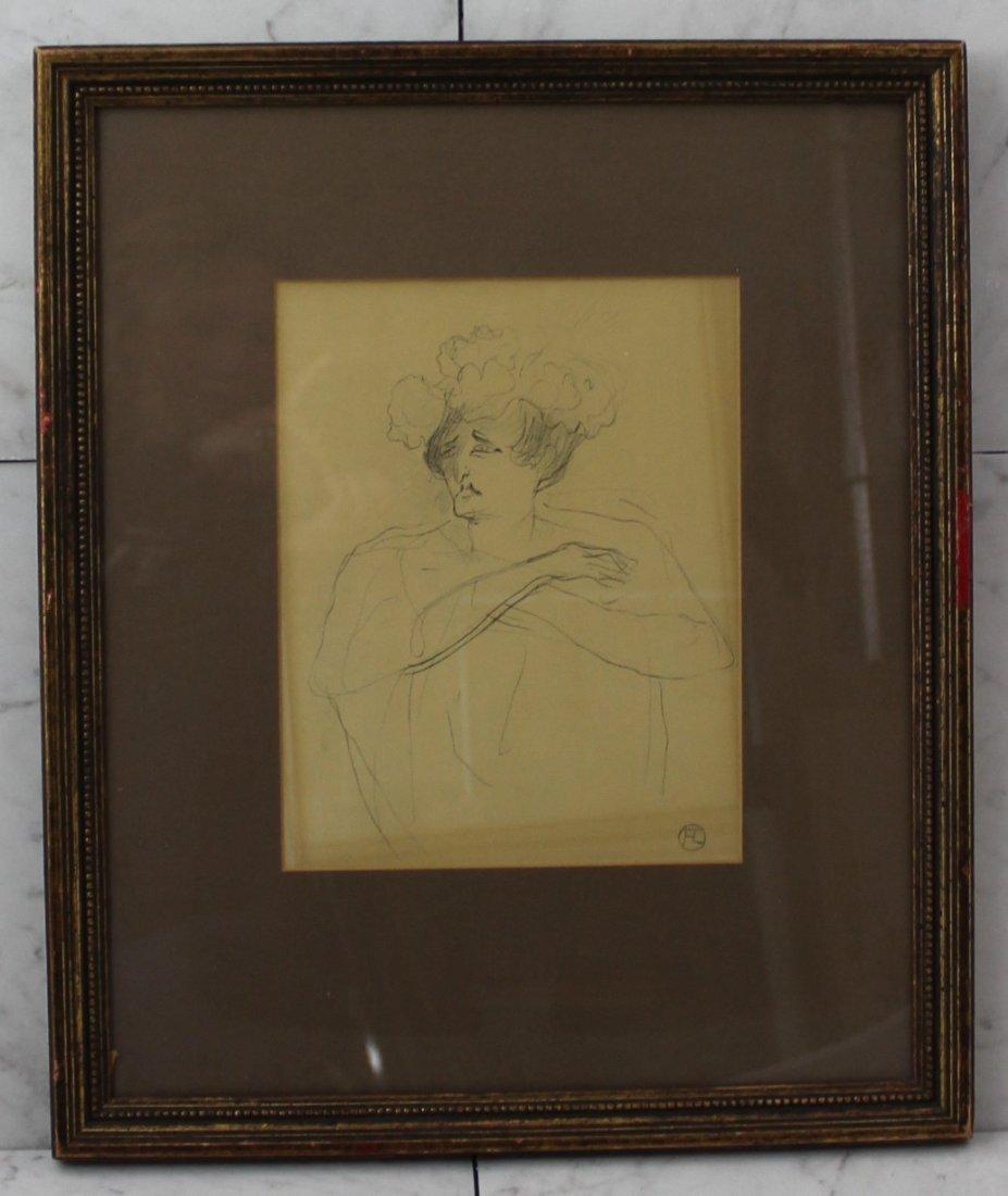 Henri de Toulouse Lautrec Signed Drawing