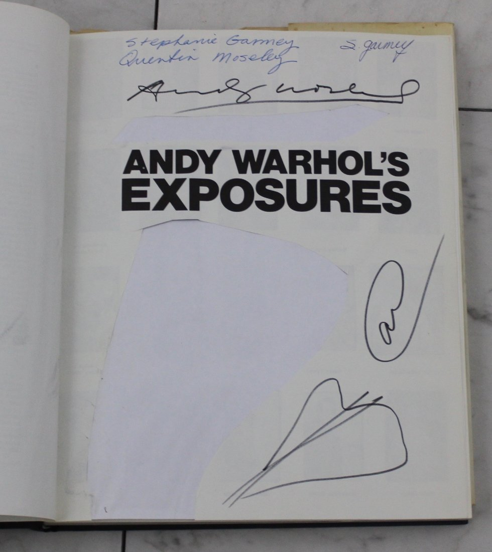 Andy Warhol Signed Exposures Book - 2