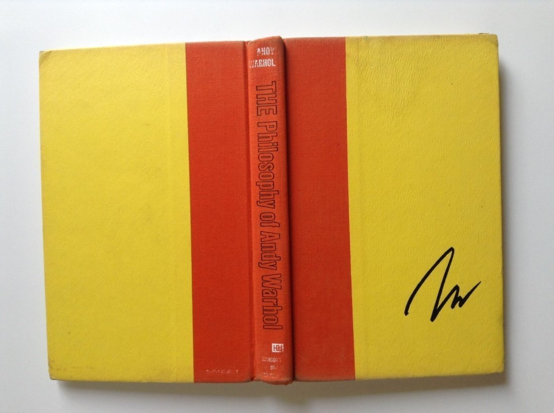 The Philosophy of Andy Warhol Signed Book - 2