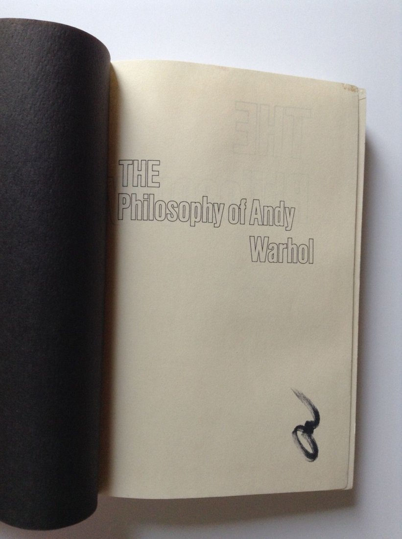 The Philosophy of Andy Warhol Signed Book - 3