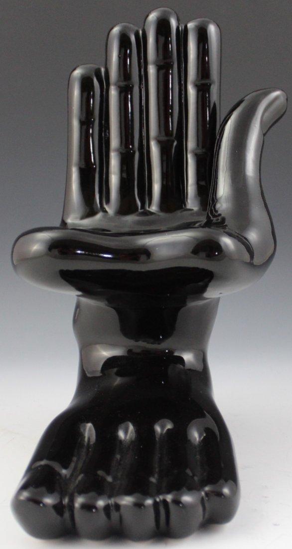 Pedro Friedeberg Ceramic Hand-Foot Sculpture