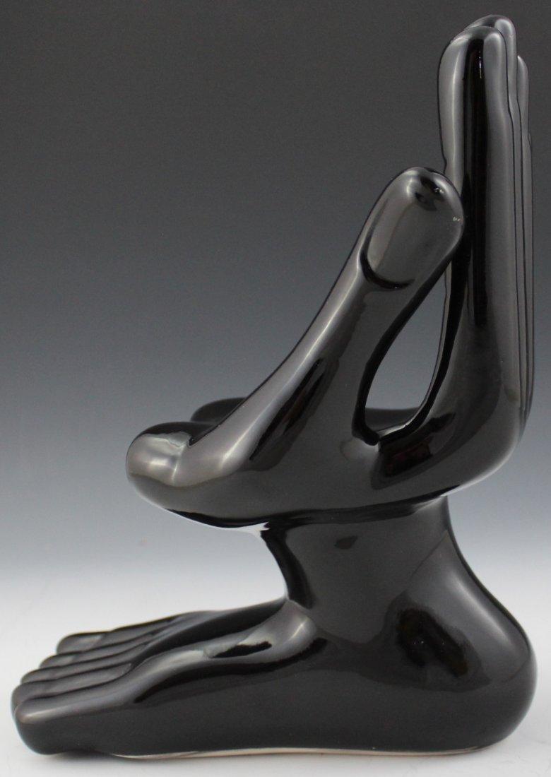 Pedro Friedeberg Ceramic Hand-Foot Sculpture - 2