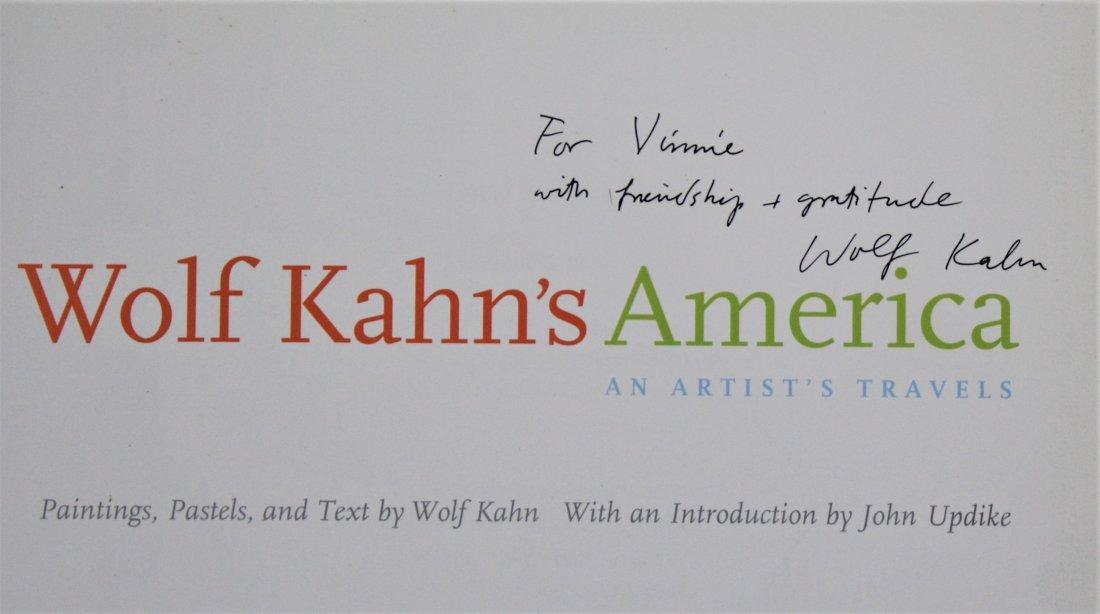 Wolf Kahn Signed book