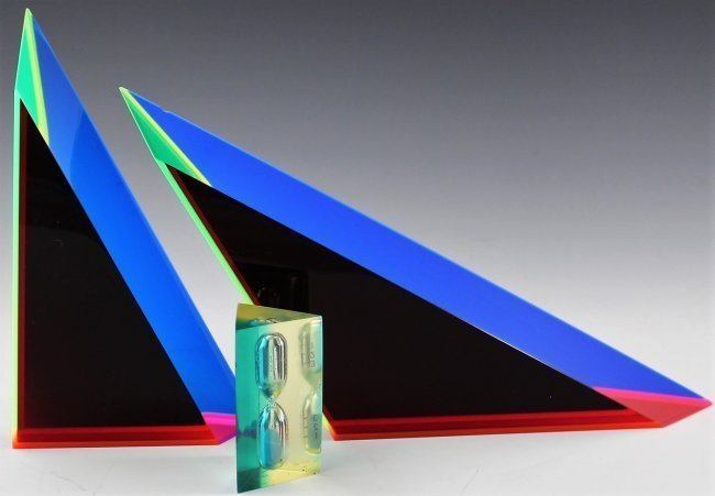 Vasa Mihich Optical Acrylic Sculpture