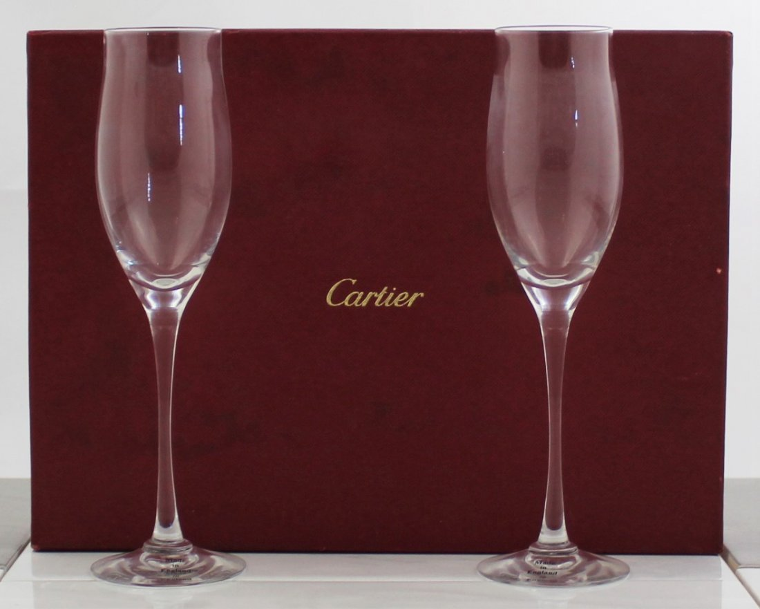 Cartier Champagne Flutes