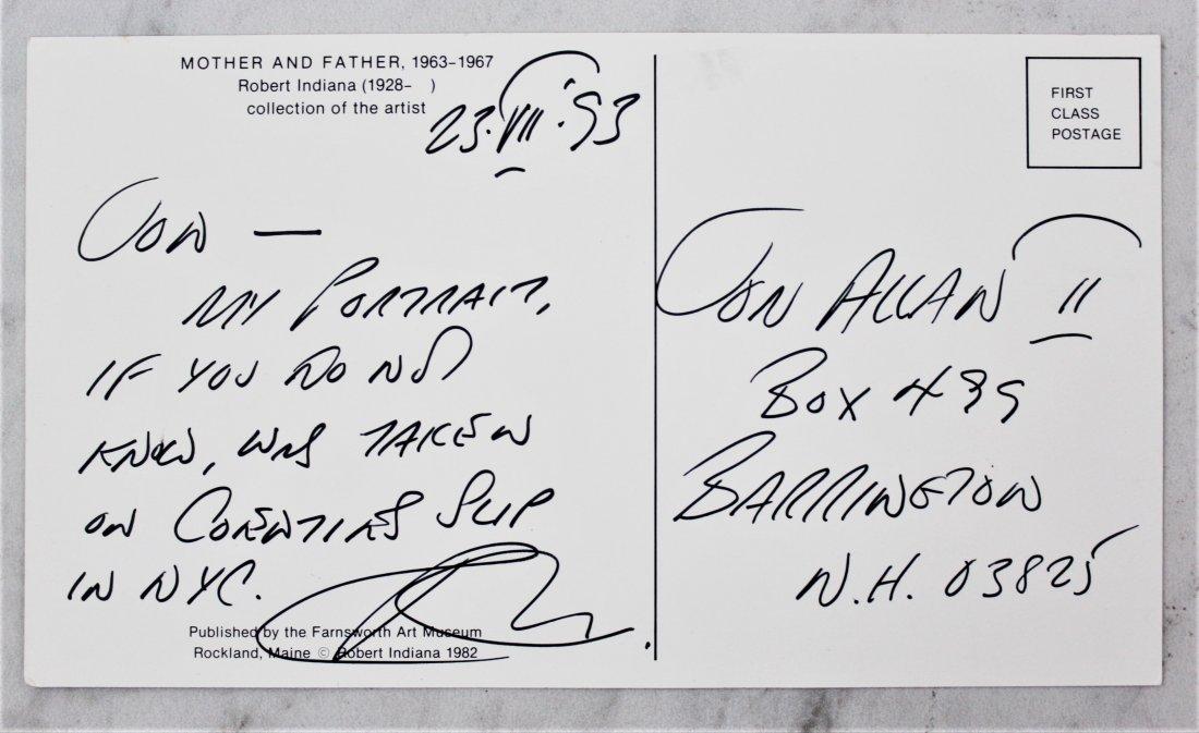 Robert Indiana Postcard & Signature - 3