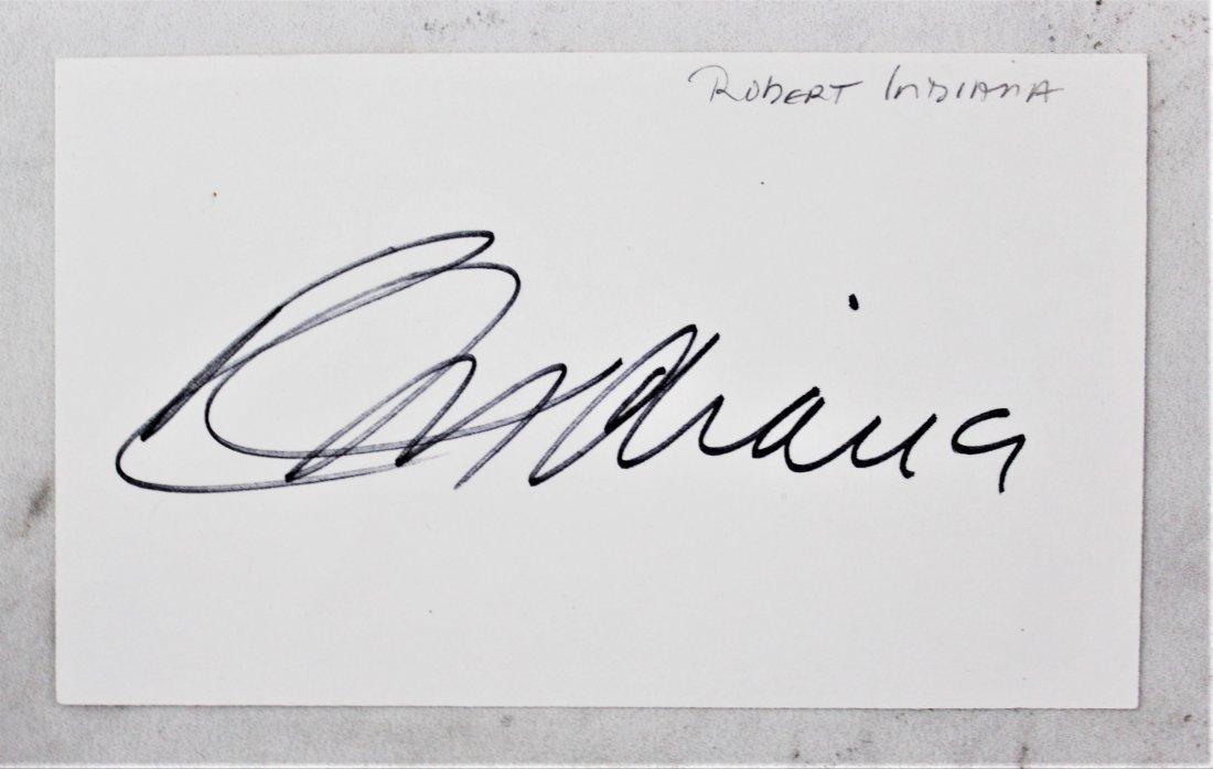 Robert Indiana Postcard & Signature - 4