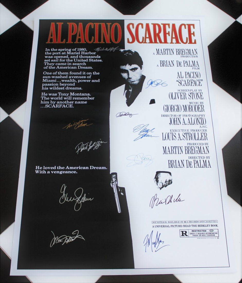 Scarface Cast Signed Movie Poster