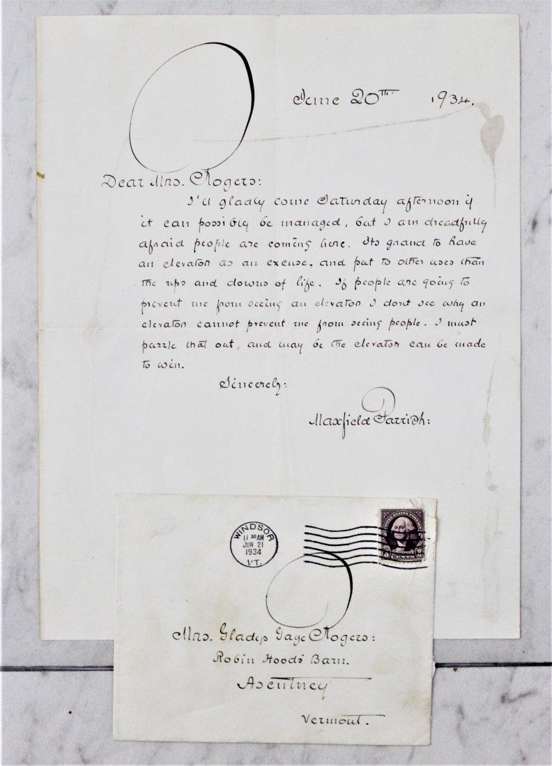 Maxfeild Parrish Signed Letter