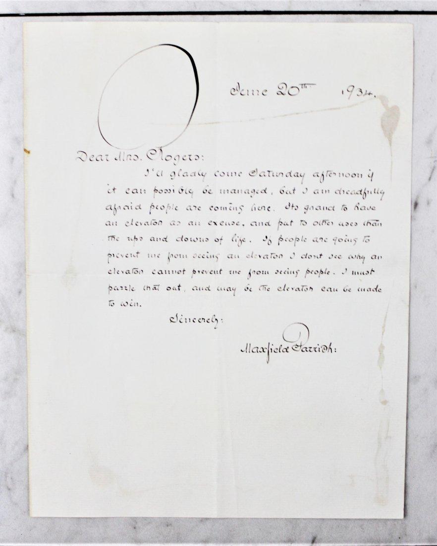 Maxfeild Parrish Signed Letter - 4