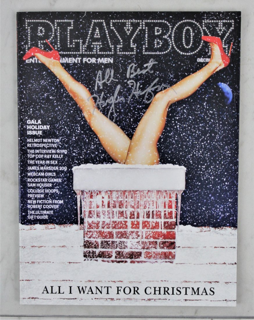 Hugh Hefner Signed Playboy Magazine