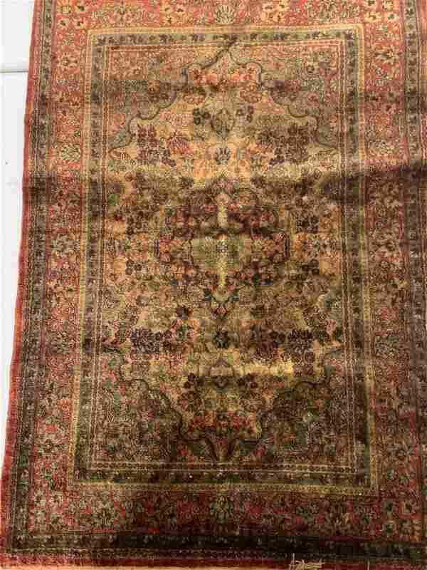 Fine Hand Woven Persian Kashan Silk 2x3 ft