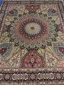 Very Fine Hand Woven Persian Silk & Wool Ghonbad 50